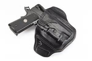 1911 with light leather holster ar15