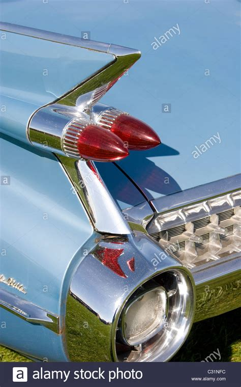 chrome clear finned front fender american 50 s car rear light bumper chrome fin boot fender trim stock photo royalty free