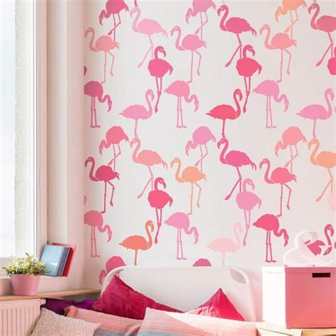 flamingo wallpaper bedroom flamingo allover stencil fun and playful pattern for a