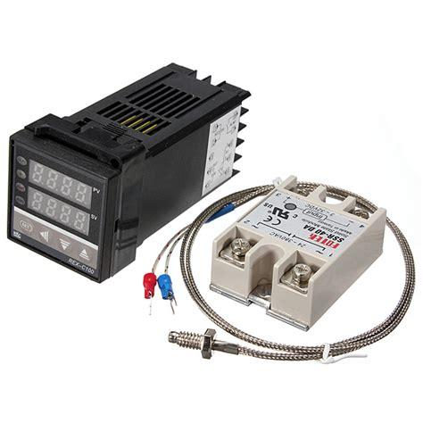 Rex C 100 Digital Pid Temperature Controller Dan Ssr 40a rex c100 220v digital pid temperature controller kit alex nld