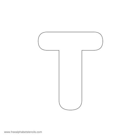 letter t template preschool modern rounded a z alphabet stencils for signs