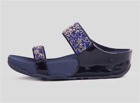 Fitflop Florent Slide fitflop rock chic slide colorful midnight blue