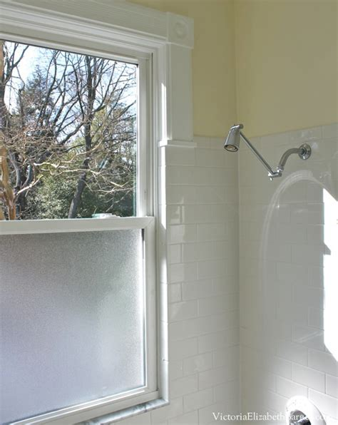 bathroom shower window solution to the large window in the shower simple diy