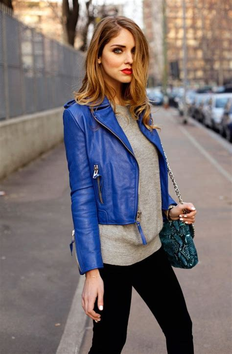 Jaket Pria Exclusive Zipper Stylish Blue bright blue leather jacket womens cairoamani