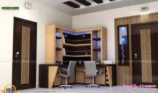 home study room study room modern kitchen living interior kerala home