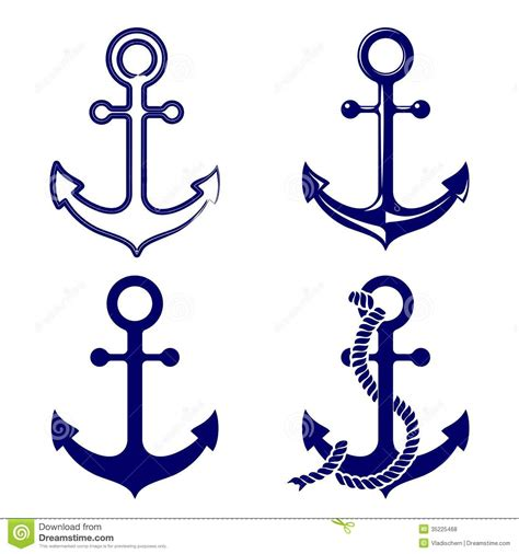 eps format vector graphics anchor symbols set vector illustration stock vector