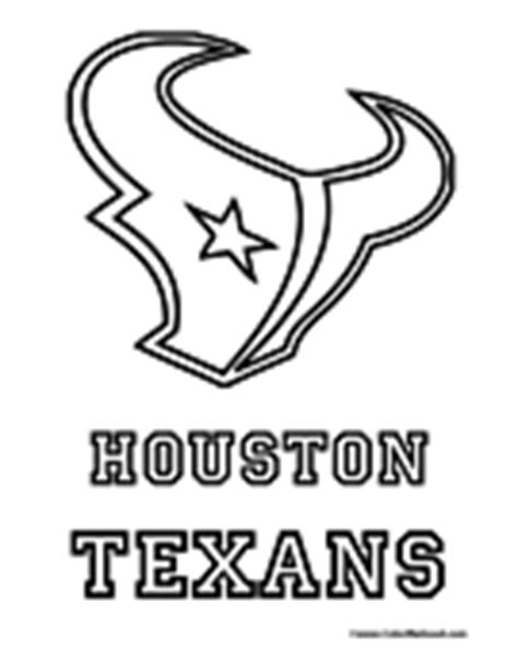 houston texans logo template nfl coloring pages teaching free worksheets
