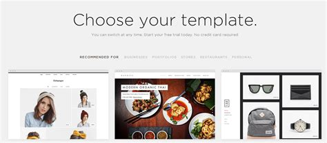 squarespace templates how do you choose one website