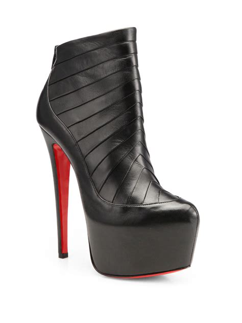 louboutin boots christian louboutin leather platform ankle boots in