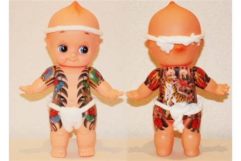 kewpie yakuza yakuza kewpie doll japanese gangster design from