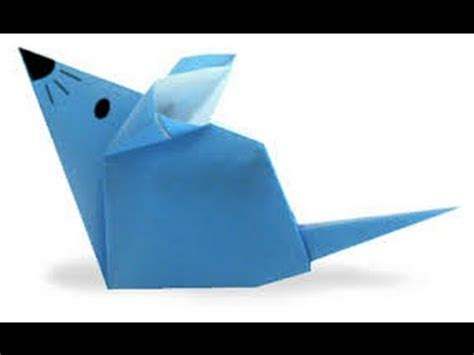 Origami Mouse - how to make the origami mouse crafts