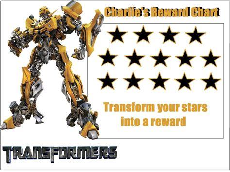 printable reward chart transformers 4 best images of transformers reward chart transformer
