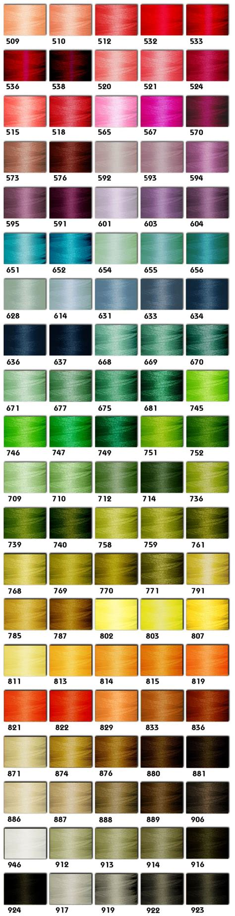 embroidex color chart embroidery thread of free embroidery patterns