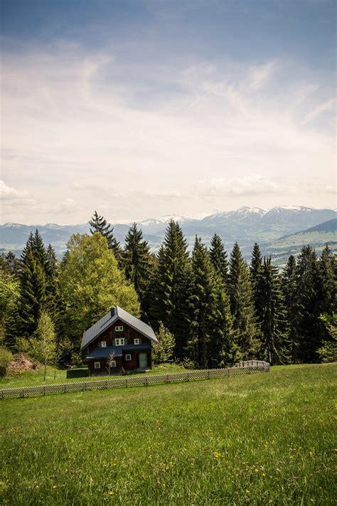 landscape photography  green grass field mountain