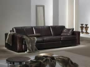 contemporary leather sofa gamma sofa