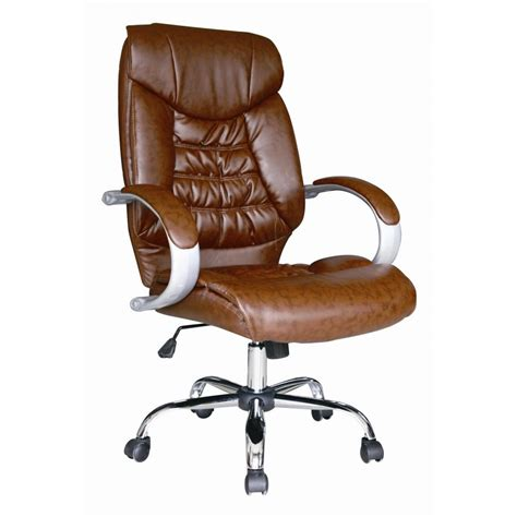 brown faux leather office chair brown faux leather luxury high back swivel executive pc