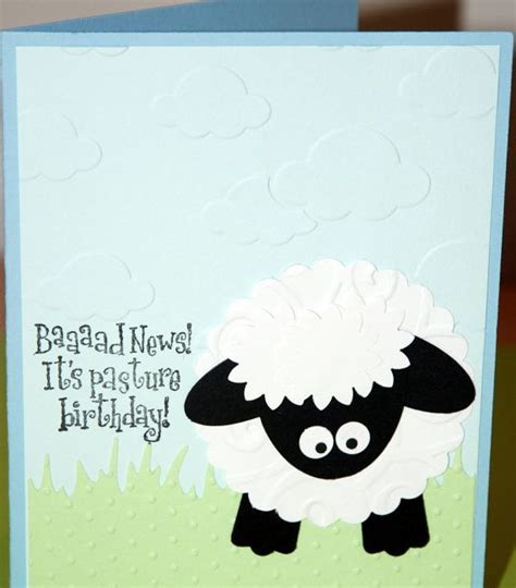 Handmade Belated Birthday Cards - belated birthday card handmade sheep