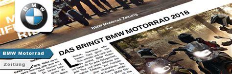 Bmw Motorrad Zeitung by Bmw Bvz