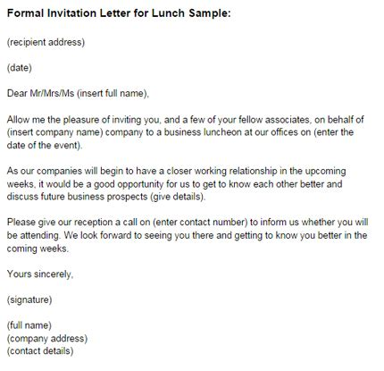 Invitation Letter Sle For Presentation Corporate Team Lunch Invitation Wordings 4k Wallpapers