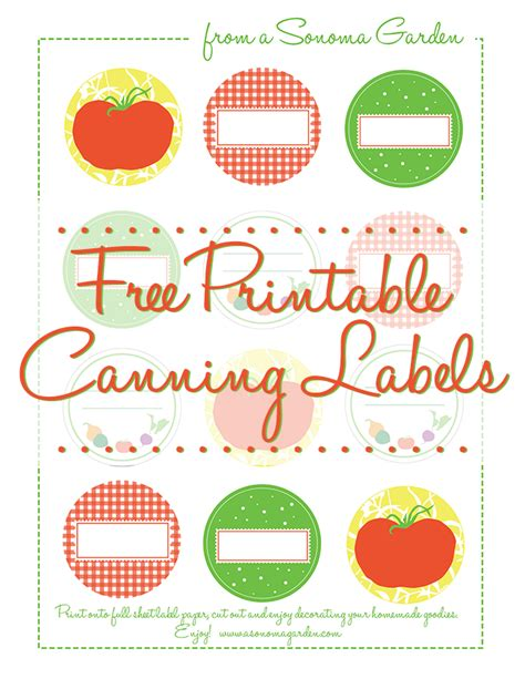 Adorable Free Canning Label Printable Pint Label Template