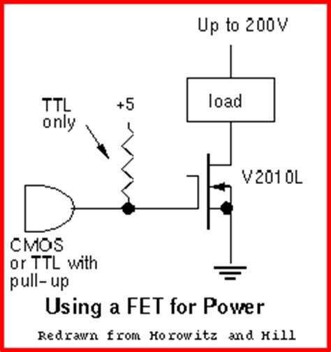 pull up resistor ttl to cmos interfacing logic to the outside world