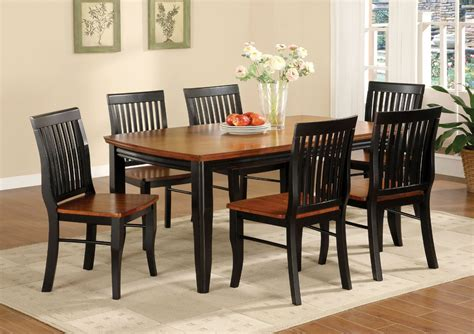 Dining Room Table And Chairs Set by Black And Brown Painted Oak Mission Style Dining Room Set