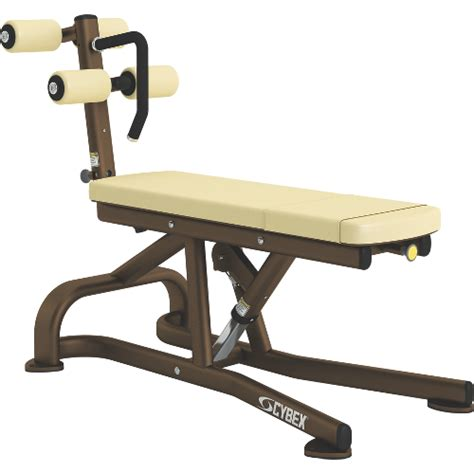 stomach bench bent leg abdominal board cybex