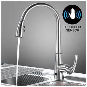 touchless faucet kitchen touchless kitchen faucet with sensor activated pull