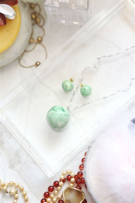diy beautiful diy marble jade earrings and pendant necklace a