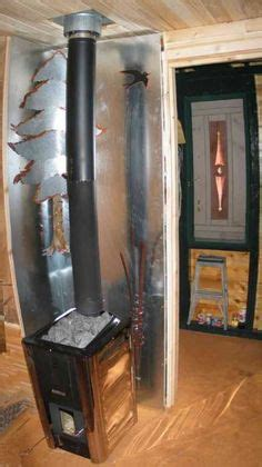 Copper heat shield for wood stove