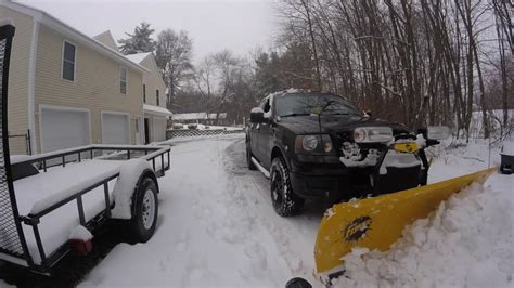ford  snow plowing dec   youtube