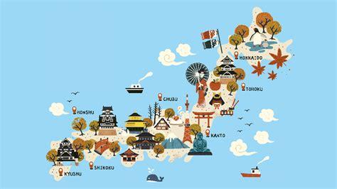 imagenes del pais japon mapa con dibujos de jap 243 n