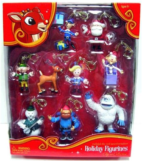 rudolph the red nosed reindeer holiday hanging figurines
