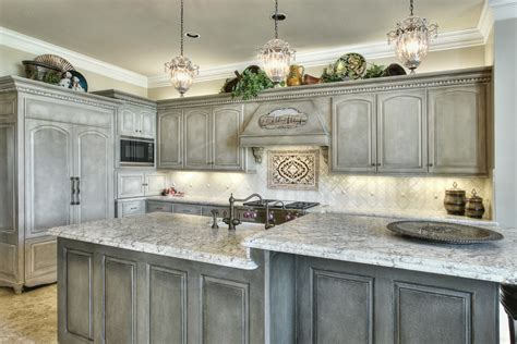 white wooden cabinet with drawers also gray glaze on the white wooden kitchen cabinet with gray white marble glaze
