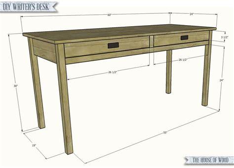 diy writers desk writers desk diy wood desk simple desk