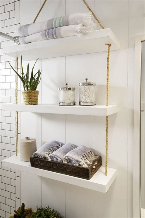 bathroom wall storage shelves best 25 rope shelves ideas on hanging
