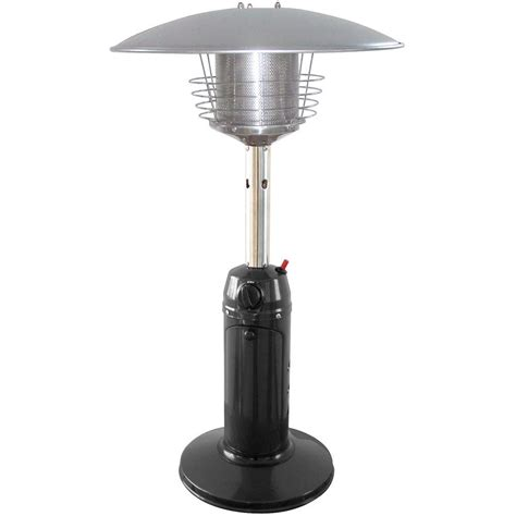 Garden Sun Patio Heaters Garden Sun 11 000 Btu Tabletop Portable Propane Gas Patio Heater Gs3000bk The Home Depot