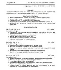 billing resume resume exles resumes