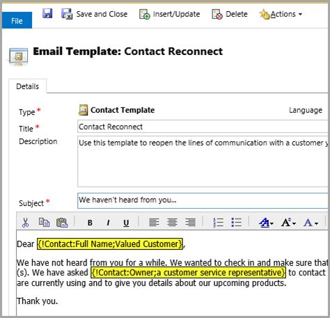 microsoft dynamics 365 email templates the crm book