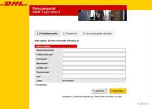 Gls Paketaufkleber Drucken by Dhl Versenden Tracking Support