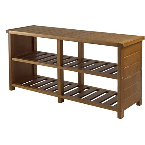entryway shoe rack bench keystone entryway bench with shoe storage teak walmart com
