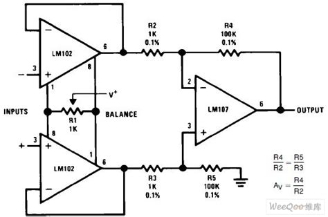 integrated circuit differential lifier differential input instrumentation lifier circuit lifier circuit circuit diagram
