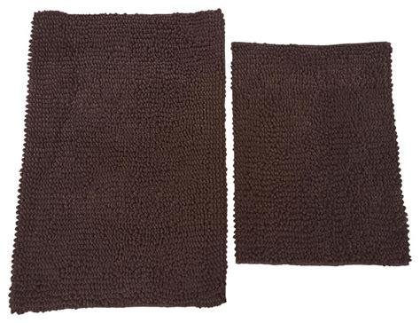 Chocolate Brown Bathroom Rugs Chd Home Napoli Luxury Chocolate Brown Chenille Loop Bath Rugs 2 Set Reviews Houzz