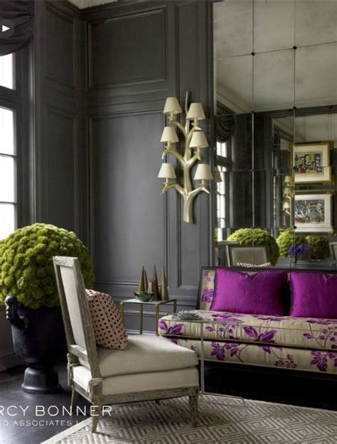 Decor Grey Walls Best 25 Purple Interior Ideas On Purple