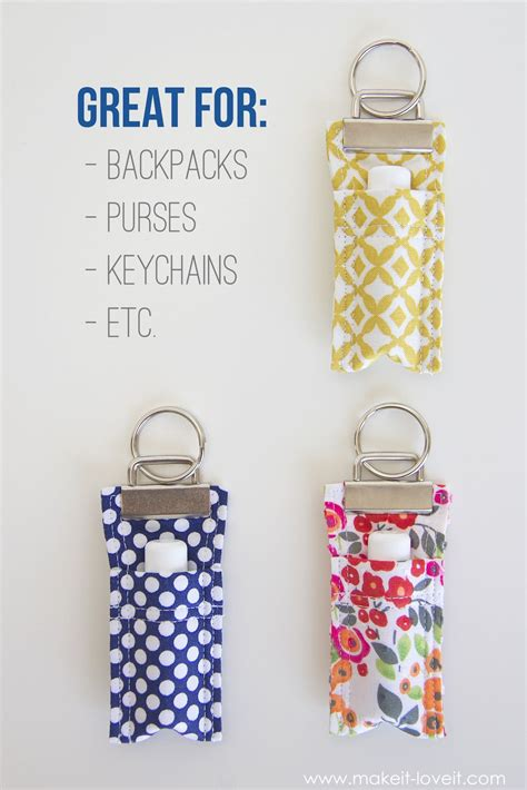 pattern for fabric keychains diy fabric chapstick holder chapstick holder keychains