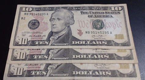 new year us dollar bill 10 dollar bills lot of 3 new uncirculated 10 dollar