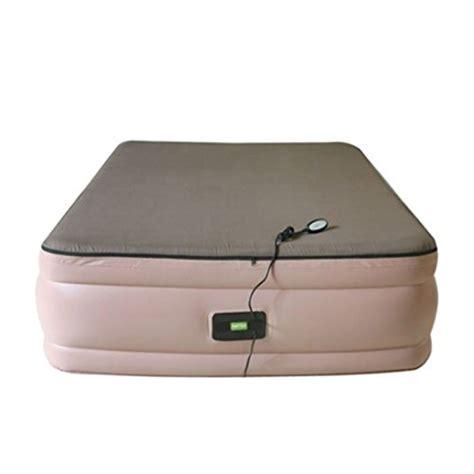 smart air beds queen raised memory foam air bed