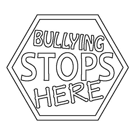 printable coloring pages about bullying bullying colotring pages