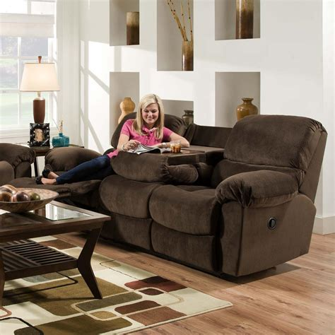reclining sofa with fold table furniture af310 casual power reclining sofa with