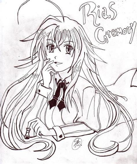 Emory Riviera 01emo769 2 how to draw rias gremory